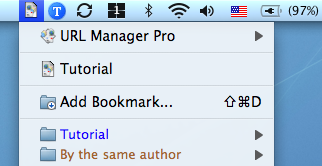 Bookmark Menu Extra